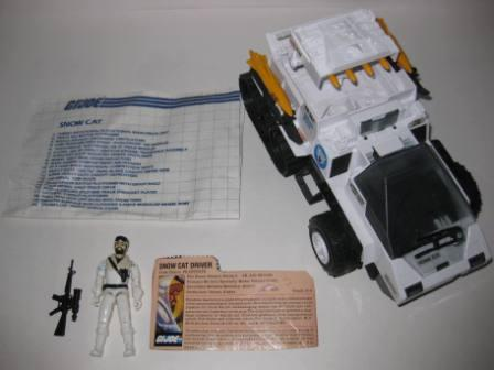 Snow Cat (1985) w/ Inst, Driver, Card - G.I. Joe